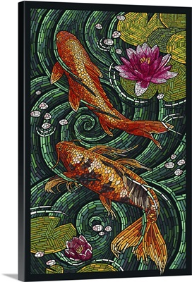 Koi - Paper Mosaic: Retro Art Poster