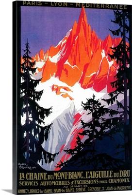 La Chaine De Mont-Blanc Vintage Poster, Europe