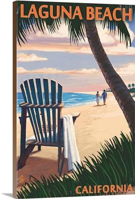 Laguna Beach, California, Adirondack Chairs and Sunset