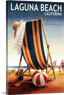 Laguna Beach, California, Beach Chair and Ball