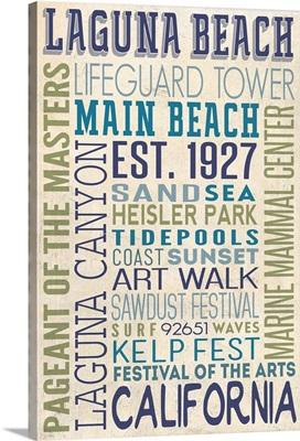 Laguna Beach, California, Typography