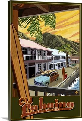 Lahaina, Hawaii: Retro Travel Poster