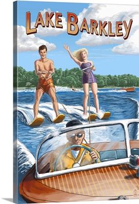 Lake Barkley, Kentucky - Water Skiing: Retro Travel Poster