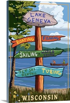 Lake Geneva, Wisconsin, Destination Signpost