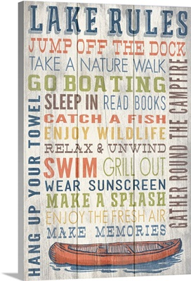 Lake Rules Typography