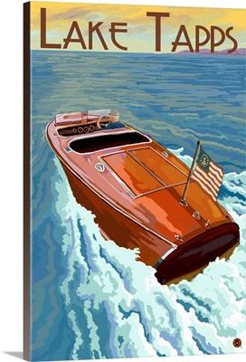Lake Tapps, Washington, Wooden Boat