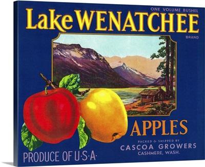 Lake Wenatchee Apple Label, Cashmere, WA