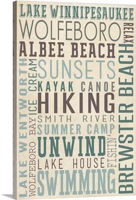 Lake Winnipesaukee, New Hampshire, Typography