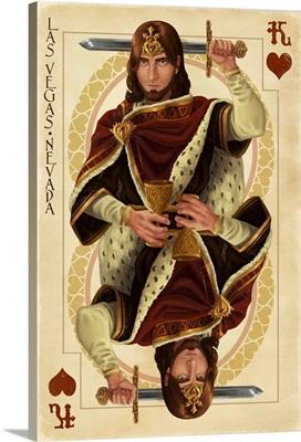 Las Vegas, Nevada - King of Hearts: Retro Travel Poster