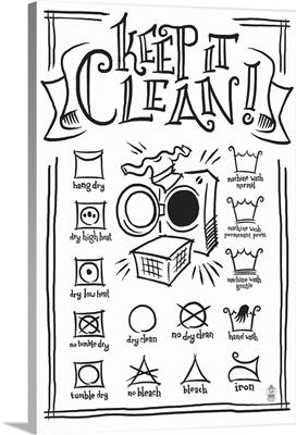 Laundry Symbols (White)