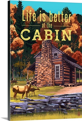Life is Better at the Cabin, National Park WPA Sentiment