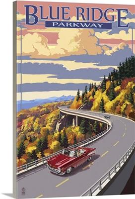 Linn Cove Viaduct - Blue Ridge Parkway: Retro Travel Poster