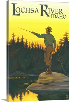 Lochsa River, Idaho, Fly Fishing Scene