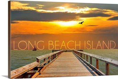 Long Beach Island, New Jersey, Pier at Sunset