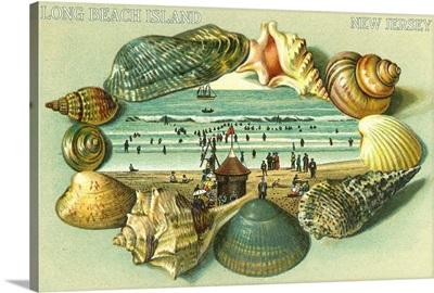 Long Beach Island, New Jersey: Retro Travel Poster