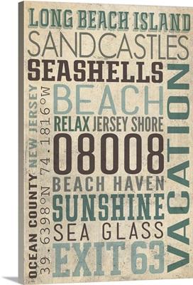 Long Beach Island, New Jersey, Typography
