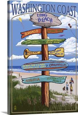 Long Beach, Washington, Destination Sign