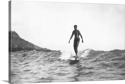 Longboard Surfer, Honolulu, HI