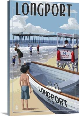 Longport, New Jersey - Lifeguard Stand: Retro Travel Poster