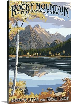 Long's Peak and Bear Lake, Rocky Mountain National Park