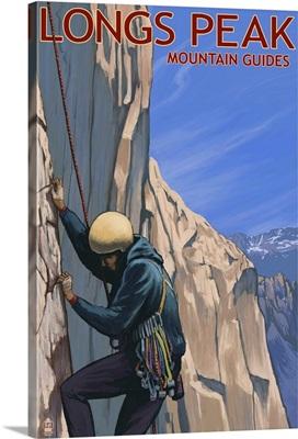 Longs Peak Mountain Guides - Colorado: Retro Travel Poster