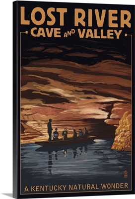 Lost River Cave and Valley - A Kentucky Natural Wonder: Retro Travel Poster