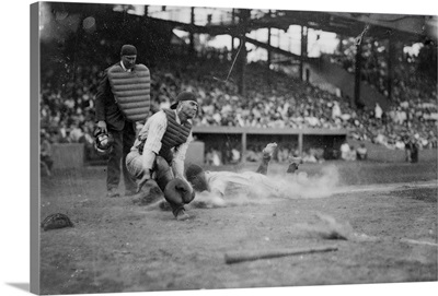 Lou Gehrig Sliding into Home Plate, Baseball, New York, NY