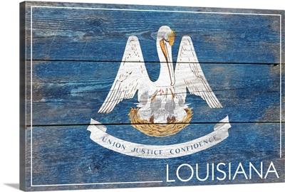 Louisiana State Flag, Barnwood Painting