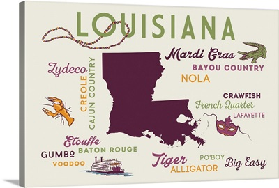 Louisiana, Typography and Icons