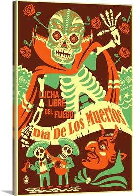 Lucha Libre del Fuego, Dia De Los Muertos Artwork
