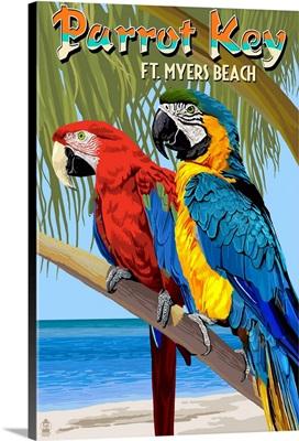 Macaws, Salty Sam's, Ft. Myers Beach, Florida