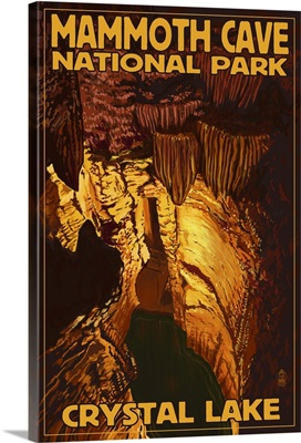 Mammoth Cave National Park - Crystal Lake: Retro Travel Poster