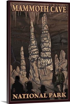 Mammoth Cave National Park - Onyx Pillars: Retro Travel Poster