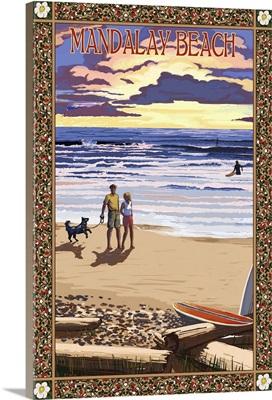 Mandalay Beach, California: Retro Travel Poster