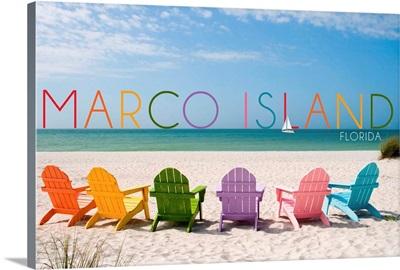 Marco Island, Florida, Colorful Beach Chairs