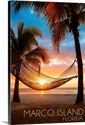 Marco Island, Florida, Hammock and Sunset