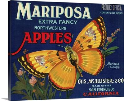 Mariposa Apple Label, San Francisco, CA