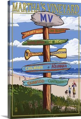 Martha's Vineyard, Massachusetts, Destination Sign