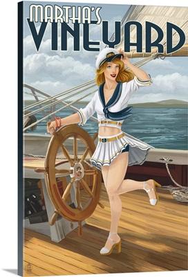 Martha's Vineyard, Sailing Pinup Girl