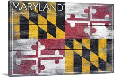 Maryland State Flag, Barnwood Painting