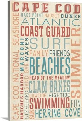 Massachusetts, Beaches Typography