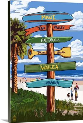 Maui, Hawaii, Destination Signpost
