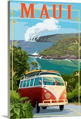 Maui, Hawaii, VW Van Cruise