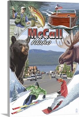 McCall, Idaho - Montage: Retro Travel Poster
