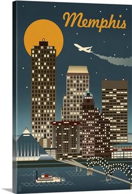 Memphis, Tennessee, Retro Skyline