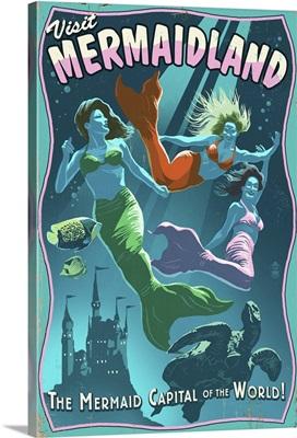 Mermaid, Vintage Sign