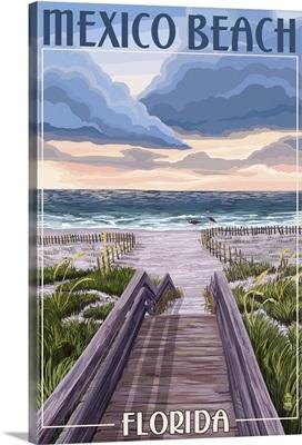 Mexico Beach, Florida, Beach Boardwalk Scene