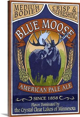 Minnesota - Blue Moose Pale Ale: Retro Travel Poster