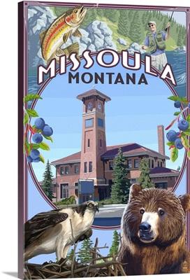 Missoula, Montana, Town Scenes