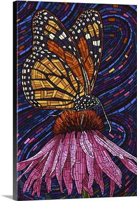 Monarch Butterfly, Paper Mosaic